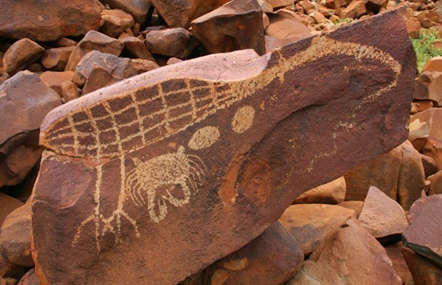 Rock carvings at burrup peninsula daily review film