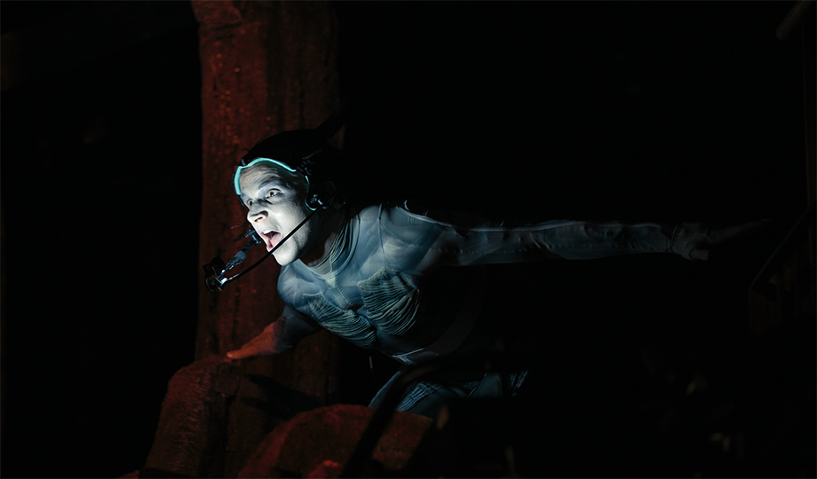 Mark Quarterly as Ariel in Royal Shakespeare Company's The Tempest. Photo: Intel